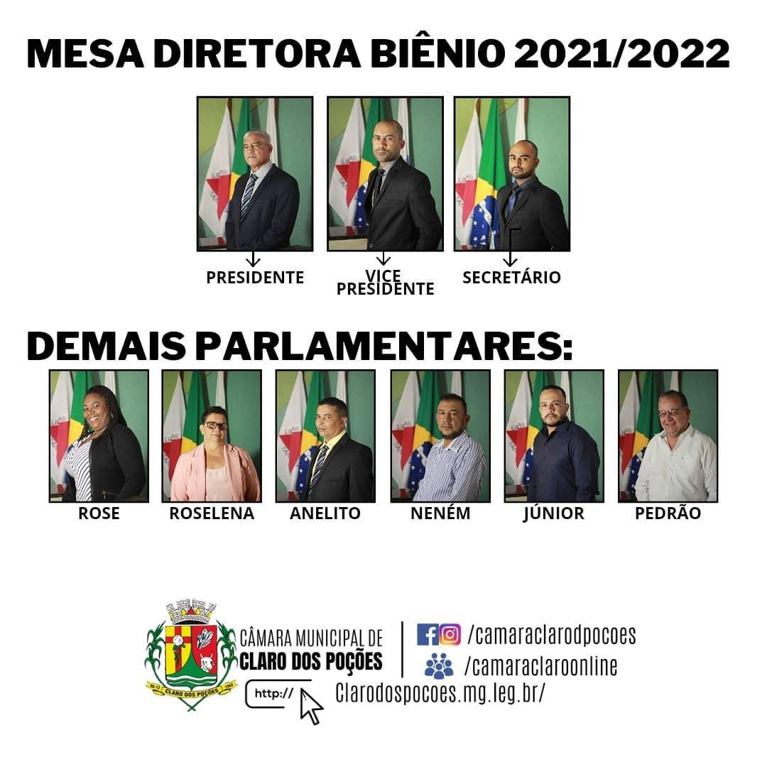 MESA DIRETORA BIÊNIO 2021/2022